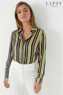 Lipsy Satin Stripe Shirt