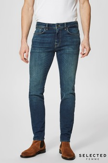 Selected Homme Washed Slim Fit Jeans