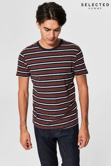 Selected Homme Short Sleeve Striped T-Shirt