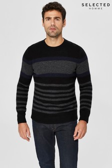 Selected Homme Stripe Crew Neck Jumper