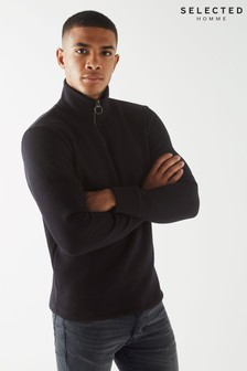 Selected Homme High Neck Zip Sweatshirt