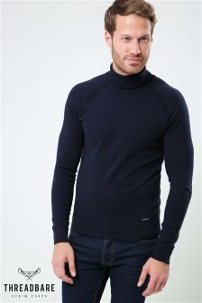 Threadbare Roll Neck Knit Jumper