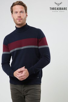 Threadbare Stripe Roll Neck Knitted Jumper