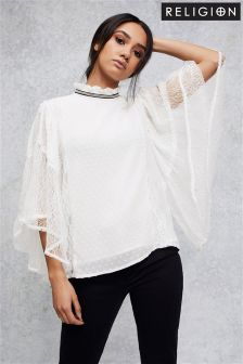 Religion Pleat Blouse