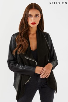 Religion Publicised Leather Jacket