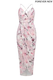 Forever New Drape Floral Print Maxi Dress