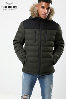 Threadbare Fur Hood Padded Jacket