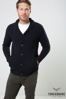 Threadbare Cable Knit Cardigan