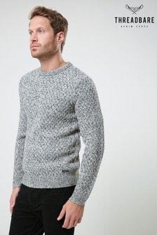 סוודר עם רקמה של <bdo dir=&quot;ltr&quot;>Threadbare</bdo>