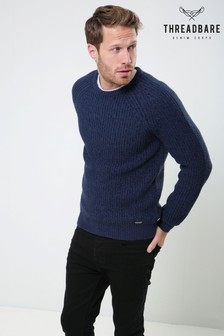 Threadbare Twist Crew Neck Knit Jumper