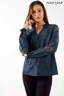 Naf Naf Lace Sleeves Blouse