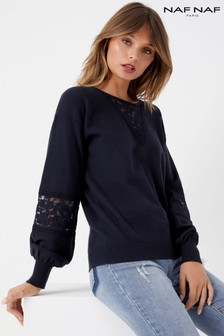 Naf Naf Lace Panel Jumper