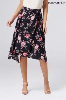 Forever New Jaquard Floral Midi Skirt