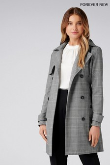 Forever New Check Trench