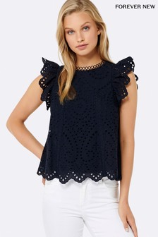 Forever New Broderie Top