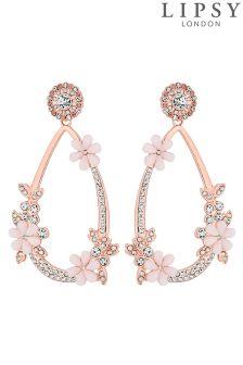 Lipsy Crystal Flower Drop Earrings
