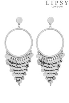 Lipsy Sequin Fringed Drop Earrings