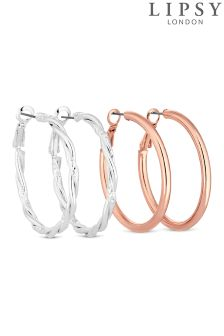 Lipsy Hoop Earring Set