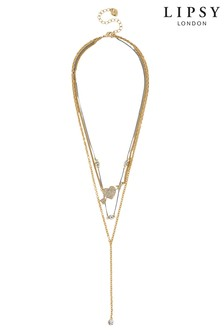 Lipsy Heart & Arrow Necklace
