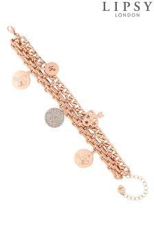 Lipsy Disc Charm Bracelet