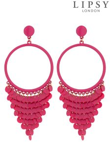 Lipsy Sequined Fringed Drop Earrings