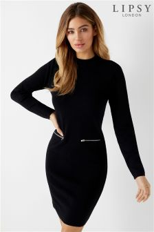 Lipsy Zip Pocket Shift Dress