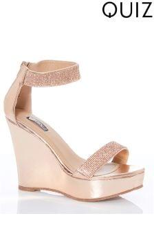Chaussures compensées Quiz Diamanté à talons hauts