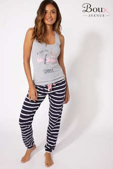 Boux Avenue Winter Flamingo Vest Jogger Set