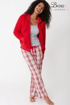 Boux Avenue Check Three Piece PJ Set