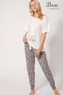 Boux Avenue Bunny Tee And PJ Set