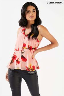 Vero Moda Sleevless Button Top
