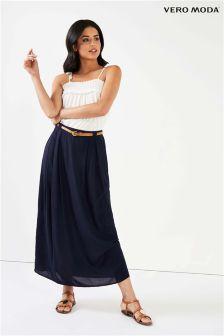 Vero Moda Belted Maxi Skirt