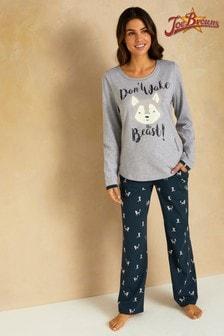 Joe Browns Pyjama mit Wolfmotiv