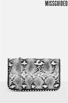 Missguided Snake Cross Body Bag