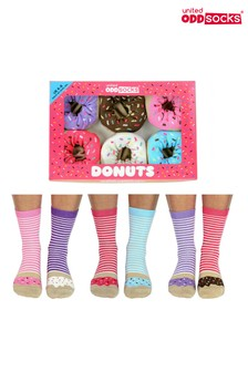 United Oddsocks Donut socks Pack of 6