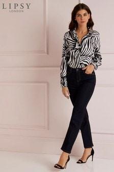 Lipsy Bella High Rise Straight Leg Regular Length Jeans