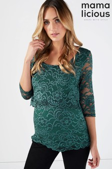 Mamalicious Maternity Nursing Lace Top