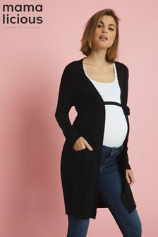 Mamalicious Maternity Long Sleeve Knit Cardigan