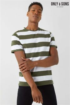 Only & Sons Short Sleeve Stripe T-Shirt