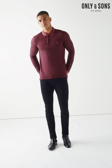 Only & Sons Long Sleeve Fitted Polo Shirt
