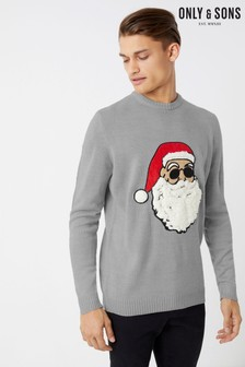 Only & Sons Crew Neck Christmas Jumper