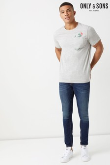 Only & Sons Short Sleeves Christmas Fitted Tee