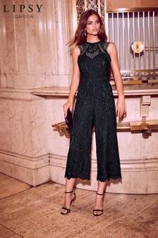 Lipsy VIP Lace Culotte Jumpsuit