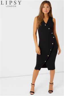 Lipsy Button Front Bodycon Dress