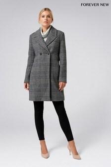 Forever New Check Coat