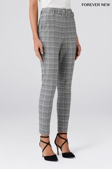 Forever New Check Trousers