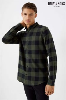 Only & Sons Long Sleeve Checked Shirt