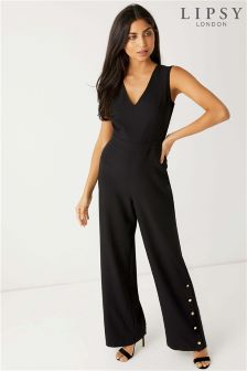Lipsy Button Up Leg Jumpsuit