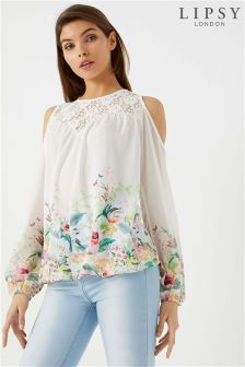 Lipsy Print Cold Shoulder