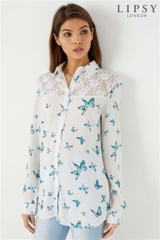 Lipsy Lace Butterfly Shirt